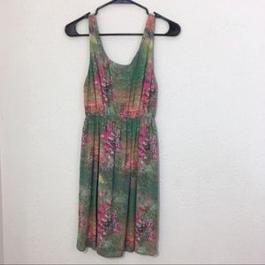 Alice & Olivia Dress Midi Tank Floral Silk Size 4